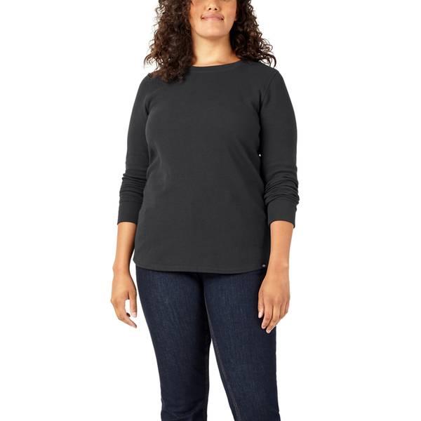 Dickies Women's Plus Long Sleeve Crew Neck Thermal Shirt