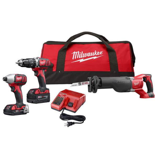 Milwaukee M18 3 Tool Combo Kit 2697 23cxc Blain S Farm Fleet