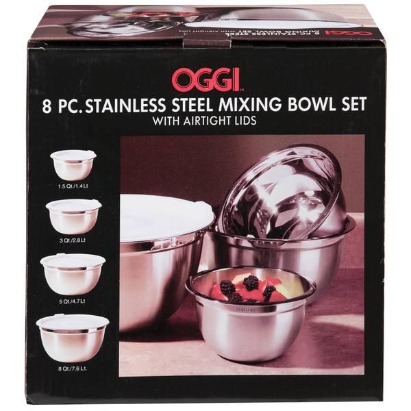 Oggi Stainless Steel Mixing Bowls With Lids 9045928 Blain S Farm Fleet