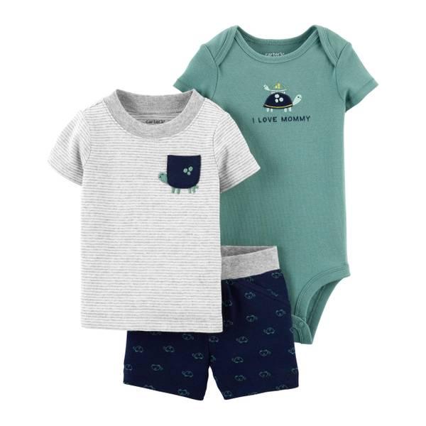 Carter's Infant Boy's 3-Piece Turtle Set - 1K489710-9M ...