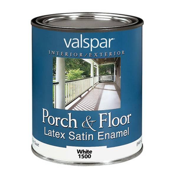 White Valspar Porch And Floor Paint Quart