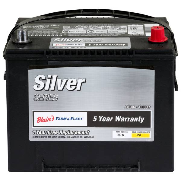 5 Year Silver Automotive Battery