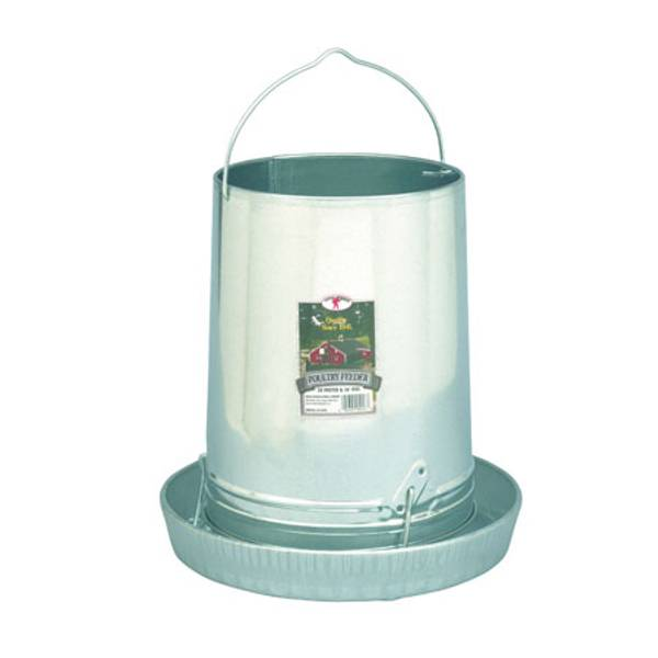 Galvanized Hanging Poultry Feeder with Feeder Pan