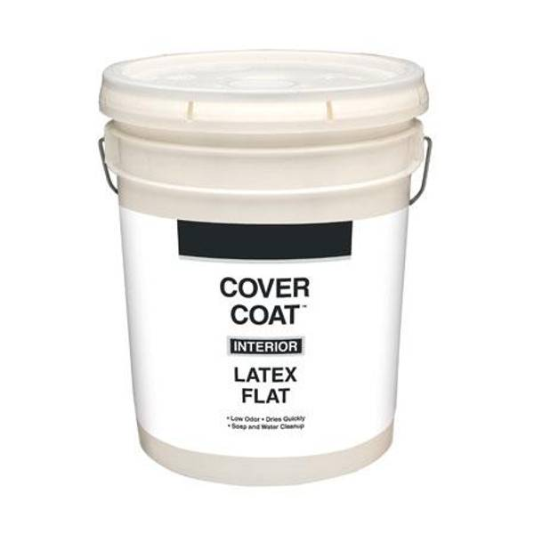 cover coat interior latex flat wall and ceiling paint 5 gallon. Black Bedroom Furniture Sets. Home Design Ideas