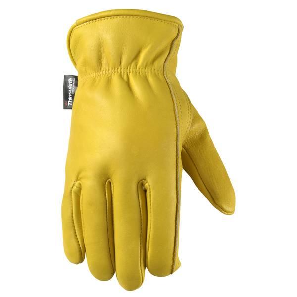 Men's Cold Weather Grain Cowhide Gloves