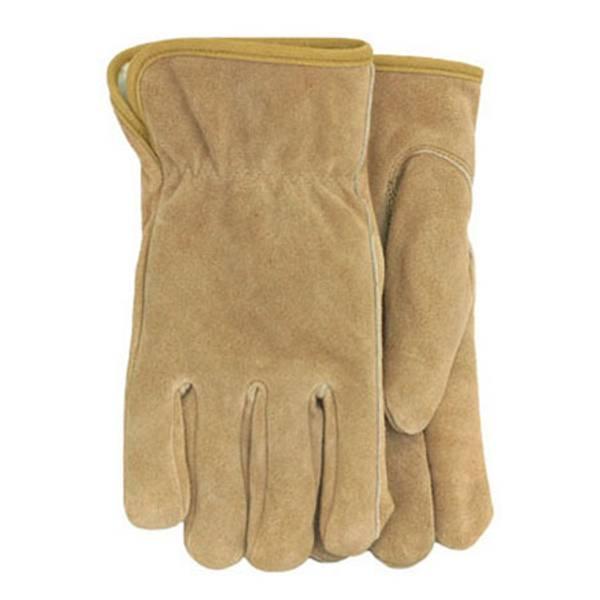 Men's Pile Lined Split Leather Gloves