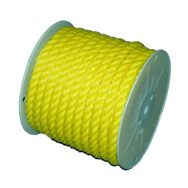 Twisted Yellow Poly Rope, By The Foot