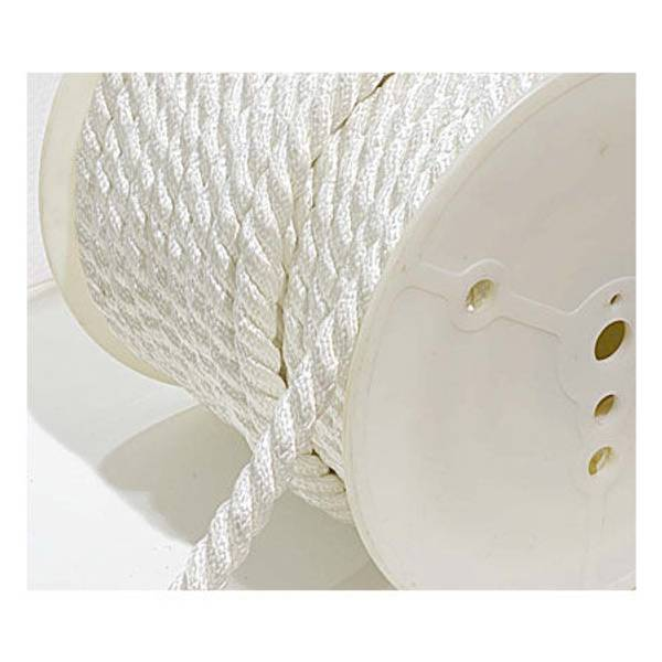 White Twisted Nylon Rope, By The Foot