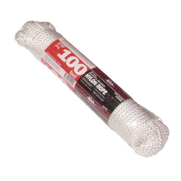 100' White Diamond Braided Nylon Rope