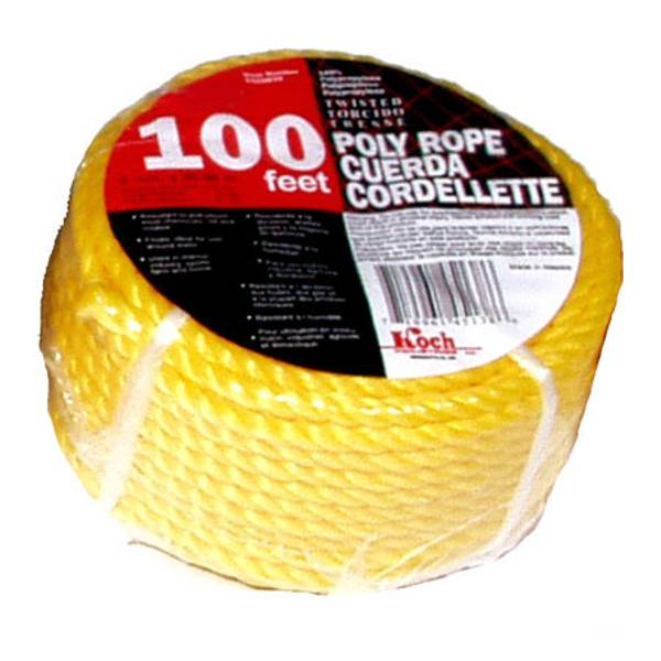 100' Twisted Yellow Poly Rope