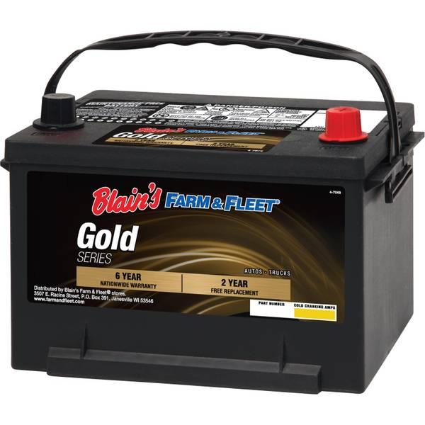 6-Year Gold Automotive Battery