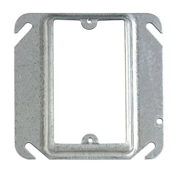 """4"""" Square 1/2"""" Raised Mud - Ring Single Device Cover"""