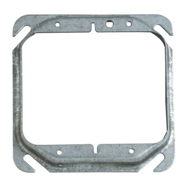"4"" Square 1/2"" Raised Mud - Ring Two Device Cover"