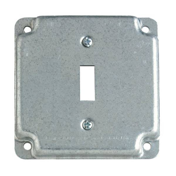 "4"" Square One Toggle Switch Exposed Work Cover"