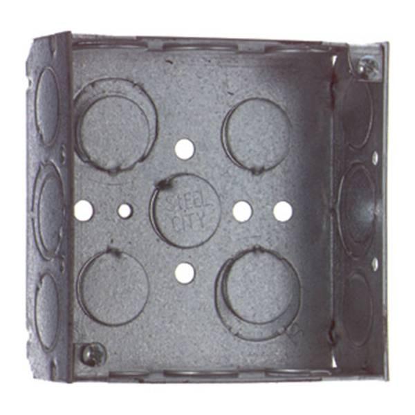 "4"" x 4"" Square Box with Conduit KO's"