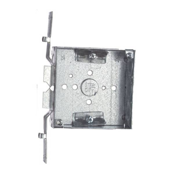 """4"""" Square Box 1-1/2"""" Deep with Cable Clamps"""
