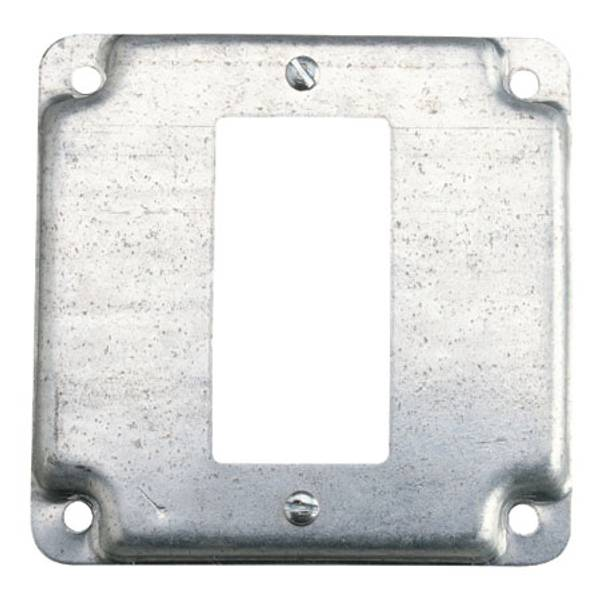 "4"" Square Exposed Work GFCI Cover"