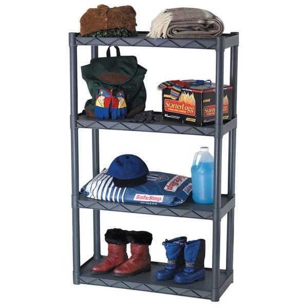 4 Tier Free Standing Utility Shelf