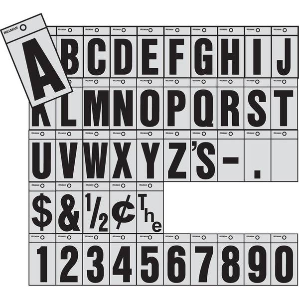 """1-1/2"""" Mylar Reflective Numbers & Letters"""