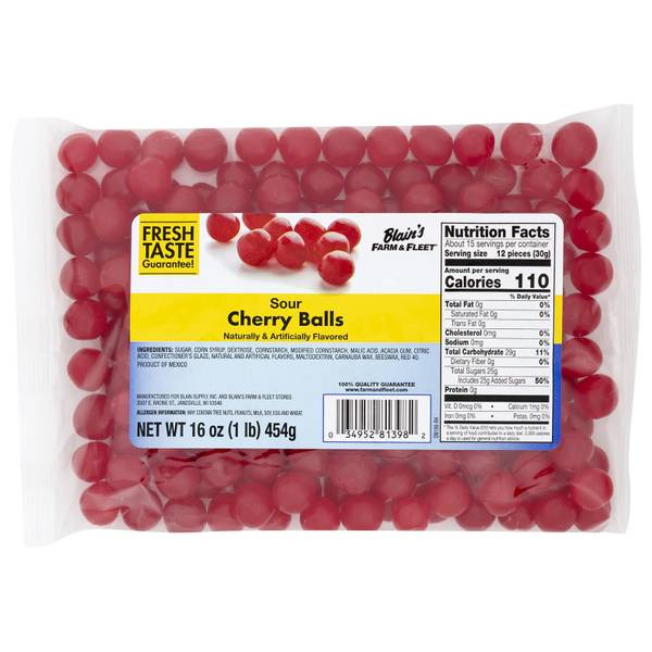 Blain S Farm Fleet Sour Cherry Balls 644005 Blain S Farm Fleet