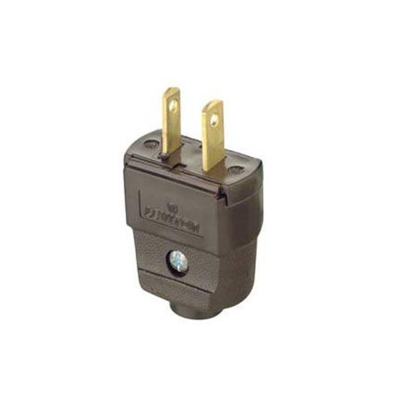 Leviton Polarized Light Duty Clamptite Plug