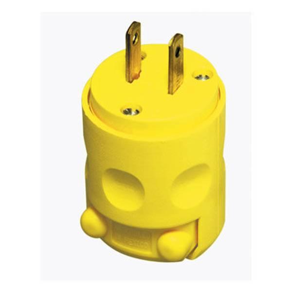 Non - Polarized Heavy - Duty PVC Plug