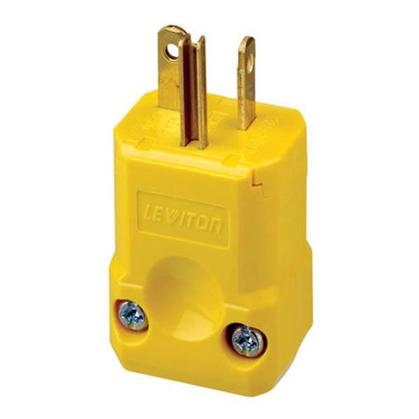 Python High Visibility Yellow Straight Blade Plug