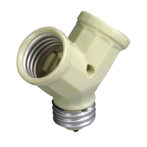 Medium Base Single Lamp Holder to Twin Lampholder