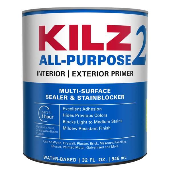 Kilz 2 latex interior exterior primer for Exterior latex primer