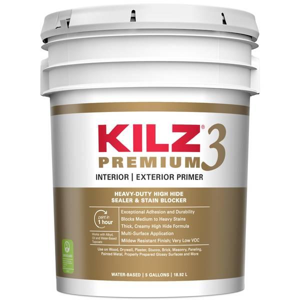 Kilz premium water base interior exterior primer - Exterior acrylic latex stain blocking primer ...