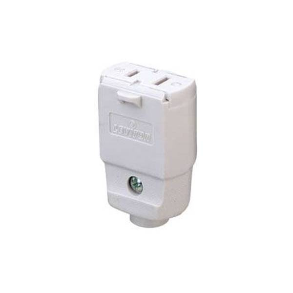 Leviton Polarized Light Duty Clamptite Connector  White