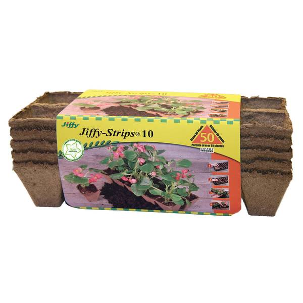 10-Cell Peat Strip Plant Trays