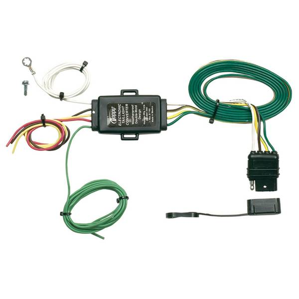 HD Tail Light Converter with Taped 4 - Wire Flat Extension
