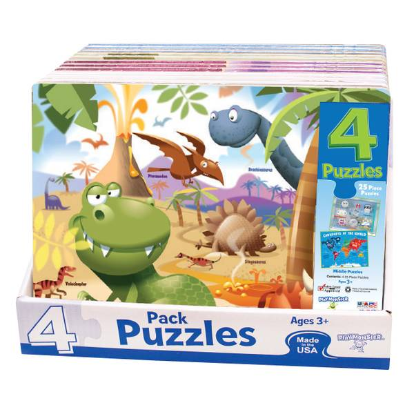 4-Pack Picture Puzzles Assortment