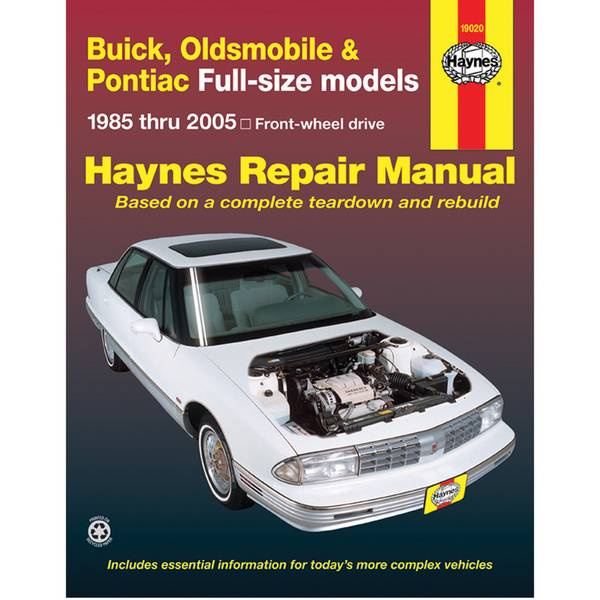 Buick / Olds / Pont. Full-Size (FWD), '85-'05 Manual