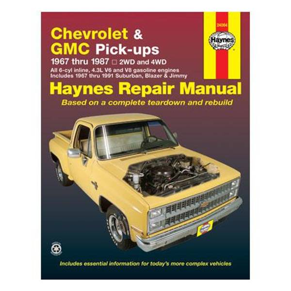 Chevrolet & GMC Pick-Up, '67-'87 Manual