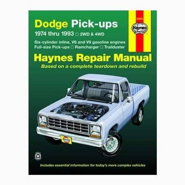 Dodge Full-Size Pick-Up, '74-'93 Manual