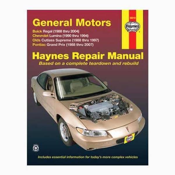 haynes gm regal lumina grand prix cutlass supreme 88 07 manual rh farmandfleet com 85 Buick Regal 1988 Buick Regal Specifications