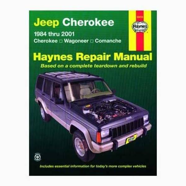 Jeep Cherokee, Wagoneer & Comanche, '84-'01 Manual