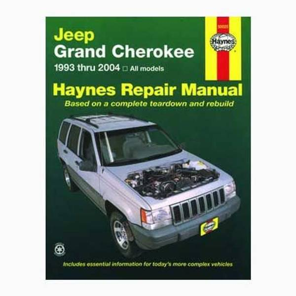 Jeep Grand Cherokee, '93-'04 Manual