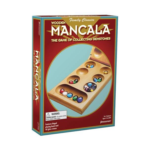 Folding Mancala Real Wood Set