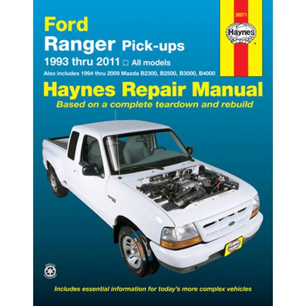 Ford Ranger & Mazda Pick-Ups, '93-'11 Manual