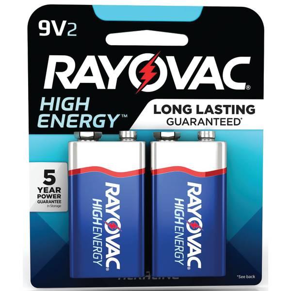9V Alkaline Battery 2-Pack