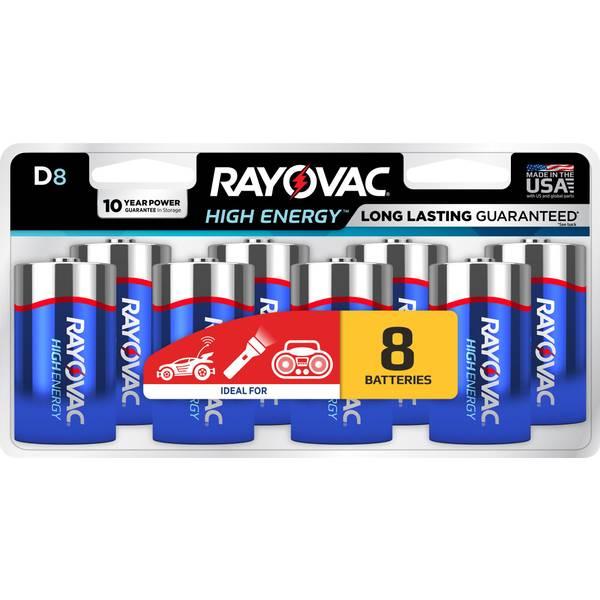 D Alkaline Batteries 8-Pack