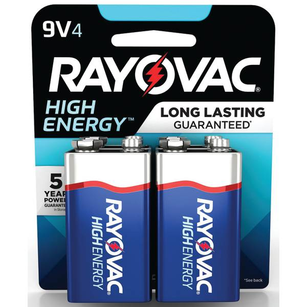 9V Alkaline Battery 4-Pack