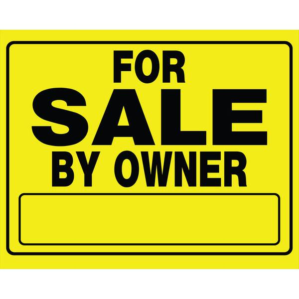 For Sale By Owner Corrugated Plastic Signs