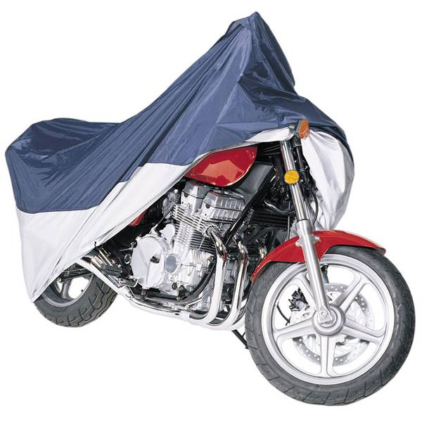MotoGear Motorcycle Cover, Blue and Silver, Large