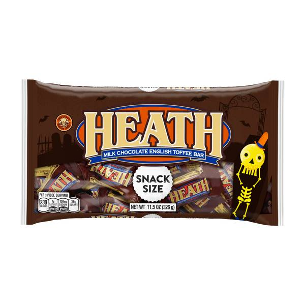 Halloween Snack Size Toffee Bars
