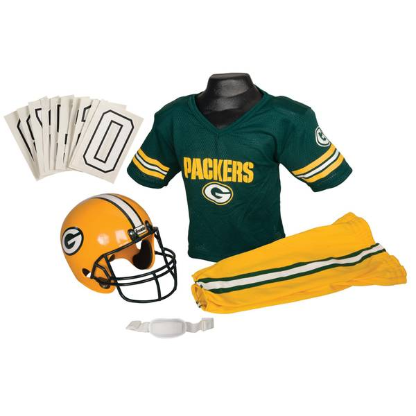 70c8596af Franklin NFL Green Bay Packers Helmet and Uniform Set