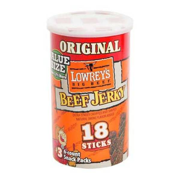 Lowrey s original 4 16 oz value size beef jerky canister